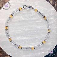 Clear Quartz & Citrine Bracelet